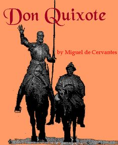 Don Quixote (full title: The Ingenious Gentleman Don Quixote of La Mancha; Spanish: El ingenioso hidalgo don Quijote de la Mancha), a novel by Miguel de Cervantes, published in two volumes in 1605 and 1615. It follows the adventures of Alonso Quijano, who reads too many chivalric novels and sets out to revive chivalry under the name of Don Quixote. He recruits a simple farmer, Sancho Panza, as his squire, who frequently deals wittily with Don Quixote's rhetorical orations on antiquated knighthood. It is considered the most influential work of literature from Spain and one of the greatest works of fiction ever published.