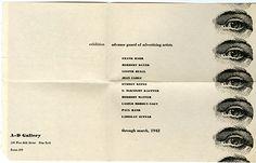 Impresos efímeros de The Composing Room. Nueva York, años 60.