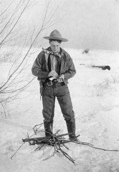 Cowboy loading pistol, 1895-1900 by Fred Payne Clatworthy -History Colorado Collection