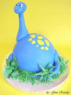 Dippy Dino Cake by *ginas-cakes on deviantART