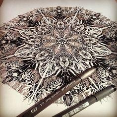 Mandala Designs, inkheartkicks: A3 signed print £12 free shipping...