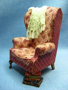 miniature wing back chair