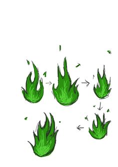 Green fire sketches