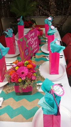 Pink and turquoise baby shower. Every good and perfect gift is from above wooden sign. @alieverwanted on instagram and etsy