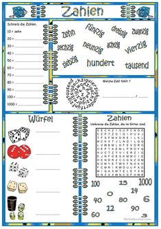 die zahlen german numbers 1 20 crossword puzzle. Black Bedroom Furniture Sets. Home Design Ideas