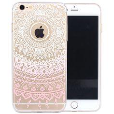 JIAXIUFEN TPU Coque - pour Apple iPhone 6 6S Silicone Étui Housse Protecteur- Henna Series Apple Butterfly Girl: Amazon.fr: High-tech