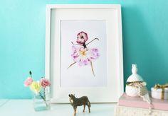 Ballet Nursery Decor Ballerina Wall art Kids by PetalsandJasmine