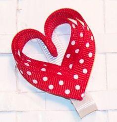 Heart Ribbon Hair Clip