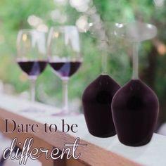 Das verkehrte Weinglas -  Kopf Glas Wein hinunter Satz von 2 ~ wagen, anders zu sein