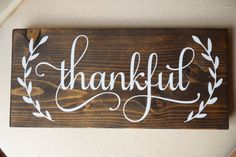 Thankful sign Thanks