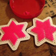 Christmas 3D Star ornament hama perler by albaduus