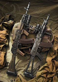 AK-74M and AK-105