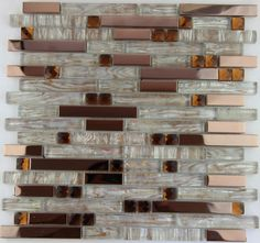 hot fashion style rose gold metal crystal glass mosaic tile ...