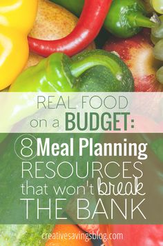 Don`t let the high cost of real food keep you from living a healthier life! These 8 meal planning resources will teach you how to save on quality ingredients, create a meal plan that works, and cook nutritious meals at home without breaking the bank. You don`t want to miss the huge bonus resource at the end!