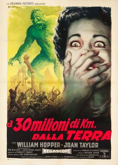 movieposteroftheday:  Italian 2-foglio for 20 MILLION MILES TO EARTH (Nathan Juran, USA, 1957) Artist: Anselmo Ballester (1897-1974) [see al...