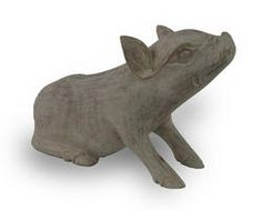 Ornamental Sitting Garden Pig - This ornamental sitting Pig has been hand crafted from solid mango wood and is part of our 'Wooden Conservatory Furniture' range. Cheap Conservatory, Conservatory Furniture, Shabby Chic Ornaments, Shabby Chic Accessories, Garden Sculpture, Lion Sculpture, This Little Piggy, Woodworking Projects, Statue