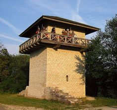 Borders are fortified with watch towers.
