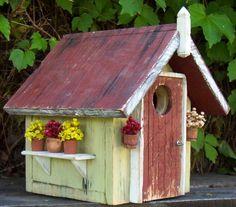 Garden House - Bird house. I even have those tiny pots.