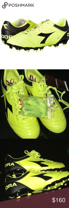 Diadora Men's Italica 3 K Pro Soccer Neon Cleats Adidas Italica 3K Cleat Men's Size 8.5 Brand new with tags Diadora soccer cleats. Genuine Leather.   ❇️ Offers Welcome ❇️ Bundle & Save ❇️ Fast Shipping! 1-2 Days M-F. Diadora Shoes Athletic Shoes