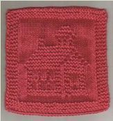 Red Schoolhouse free pattern (graphic patterns like these are why I wanted to learn to but knooking is so much easier! Baby Knitting Patterns, Knitting Squares, Knitting Blogs, Loom Knitting, Knitting Stitches, Knitting Designs, Free Knitting, Knitting Projects, Crochet Patterns