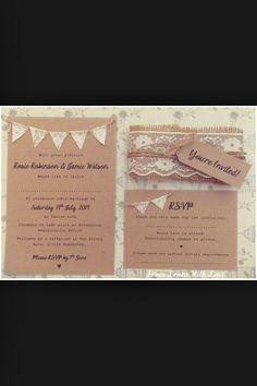 Hessian lace bunting wedding invite Wedding Stationery, Wedding Invitations, Invites, Lace Bunting, October Wedding, Dream Wedding, Wedding Dreams, Going Crazy, Reception