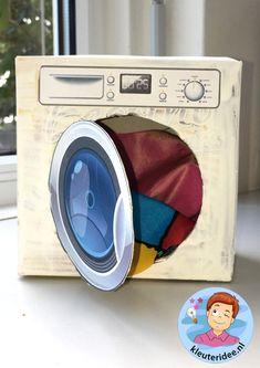 wasmachine knutselen met download, kleuteridee.