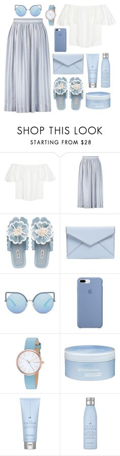 """""""I'm in ♡ with  the shades of blue"""" by pure-vnom ❤ liked on Polyvore featuring Valentino, Temperley London, Miu Miu, Rebecca Minkoff, Matthew Williamson, Skagen, Aveda and Drybar"""