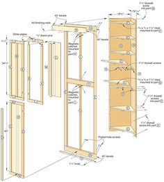 How to Build a Corner Linen Cabinet - Adding Extra Storage Space ...