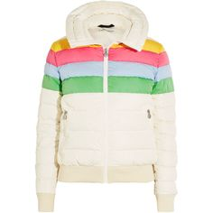 Perfect Moment Queenie quilted down ski jacket ($385) ❤ liked on Polyvore featuring white