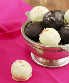 These chocolate truffle balls are made with crushed digestive biscuits and condensed milk and make a perfect gift when beautifully wrapped in a box.