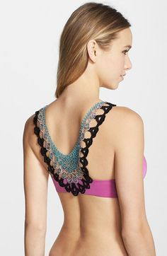 C & C California Lace Back Underwire Demi Bra available at #Nordstrom
