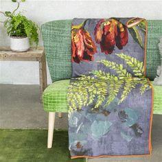 TULIPANI GRAPHITE blanket