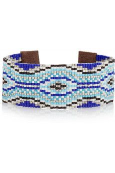 Chan Luu Beaded leather bracelet   THE OUTNET