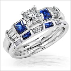 Wedding Rings Blue