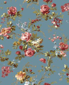 Rose from Cottage English  Love the idea of this for the guest room - reminds me of a fabric pattern from my townhouse in the 1990s and even from the farm when I was a kid.