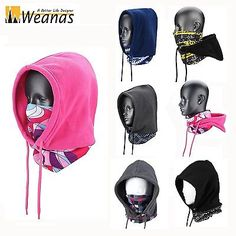 Weanas Winter Warm Windproof Balaclava Fleece Hood Cover + Mask Outdoor Sports Tomboy Outfits, Sport Outfits, Mouth Mask Fashion, Girls Frock Design, Frocks For Girls, Winter Gear, Balaclava, Cool Sweaters, Baby Girl Dresses