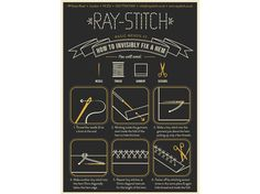 """""""Mend It"""" Postcard #2 How to Invisibly Fix a Hem 
