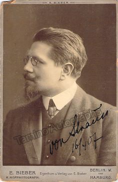 Strauss, Edmund - Signed Cabinet Photo 1907