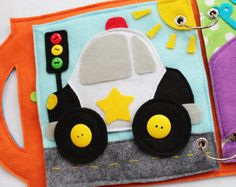 """Custom Quiet Book Page- """"Car"""" - Single Page to Expand Your Personalized Quiet… Diy Quiet Books, Baby Quiet Book, Felt Quiet Books, Quiet Book Patterns, Custom Book, Toddler Books, Busy Book, Book Pages, Book Activities"""