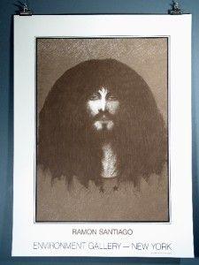 "Ramon Santiago ""Environment Gallery""Fine Art Print 1982"