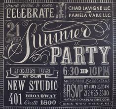 INVITES - Pen N' Paperflowers: SHARE | Thirsty Thursday • Chalkboard Art
