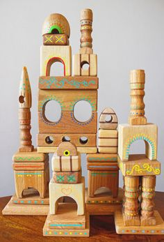 Ooh, We could totally make this! Castle Blocks by Greg Costa, via Behance Wood Animals, Diy For Kids, Crafts For Kids, Stacking Toys, Natural Toys, Toddler Play, Kids Wood, Learning Toys, Wooden Blocks