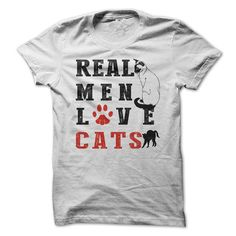 REAL MEN LOVE CATS T Shirts, Hoodies. Get it now ==► https://www.sunfrog.com/Pets/REAL-MEN-LOVE-CATS-7uhc.html?41382