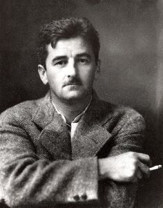 "William Faulkner, author photo for ""Sanctuary,"" 1931. Photo by J. R. Cofield of Oxford, Mississippi."