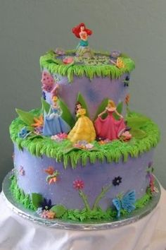 Disney princess 1st birthday cake? by concetta