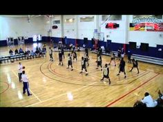 Nice defensive stance & reaction drill. Good drill to get defensive intensity up.