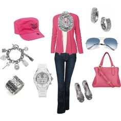 Pretty in Pink, created by #atxbelle01 on #polyvore. #fashion #style Fat Face Hudson Jeans