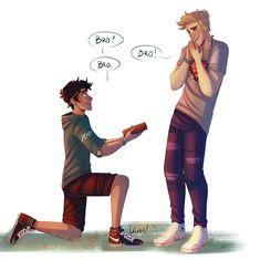 Percy Jackson Fanart, Percy Jackson Characters, Percy Jackson Ships, Percy Jackson Memes, Percy Jackson Books, Drarry, Solangelo, Percabeth, Rick Riordan Series