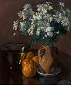 Flors (c. 1935) - Antonia Ferreras Bertrán (Lleida, 13 junio 1873 – Barcelona,  21 noviembre 1953) White Flowers, Still Life, Rose, Artist, Painting, Barcelona, November, Fruit Animals, Lily Of The Valley