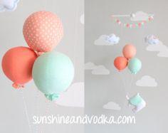 PInk Elephant Baby Mobile Girls Nursery Decor by sunshineandvodka